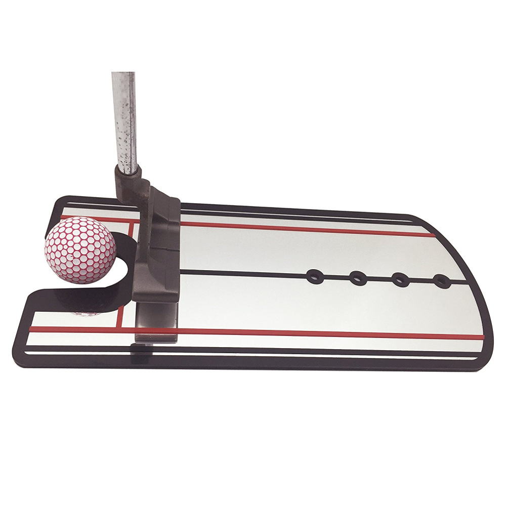Golf Putting Alignment Mirror Golf Training Aids with red lines Products Suit to Golfer