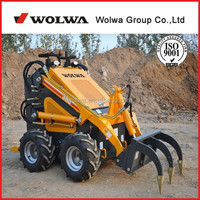 China rotary machine mini wheeled small garden tractor loader backhoe with imported engine