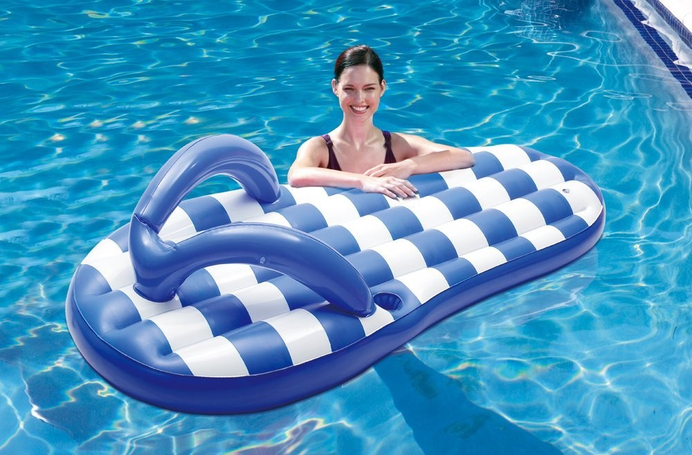 inflatable swim pool slipper floats adults kids water pool beach toys ride on