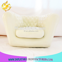 custom high quality comfortable white inflatable sofa seat chair,indoor furniture