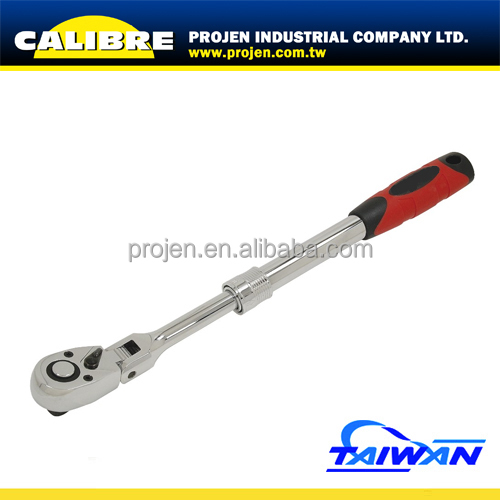"CALIBRE 1/2"" Dr. 72T 345-485MM Extending Handle Quick-Release Ratchet Adjustable Ratchet Handle Ratchet Handle"
