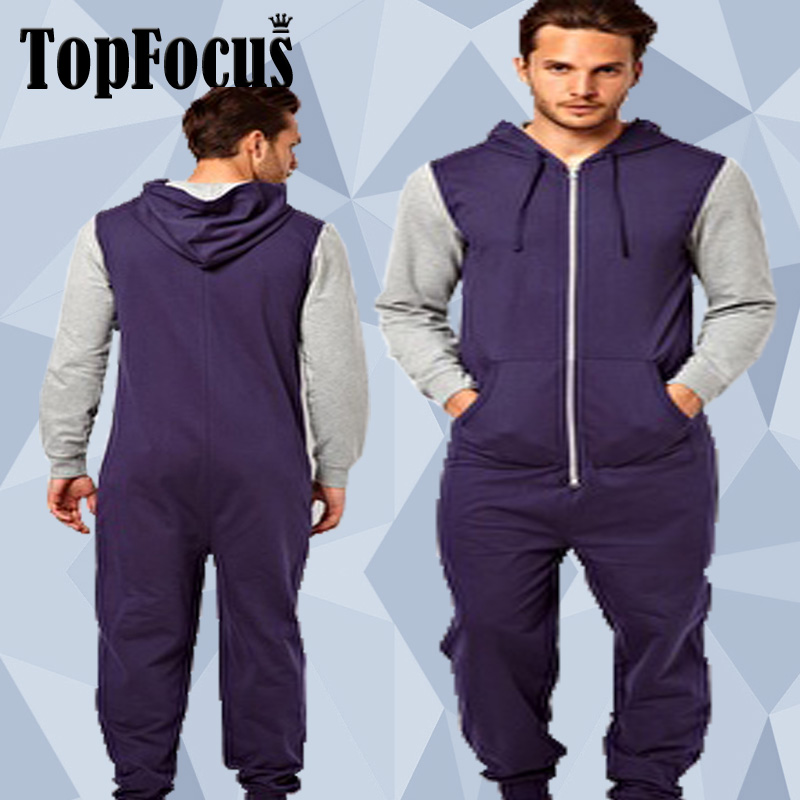 China Supplier Wholesale 100 Cotton Adult One Piece Jumpsuit For Men