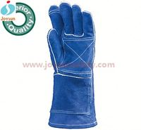 elbow length welding leather gloves reinforced web-fingered neoprene swimming and diving gloves