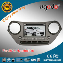 ugode car dvd player For 2014 Hyundai I10 DVD GPS with touch screen DVD GPS navigation radio bluetooth USB SD IPOD