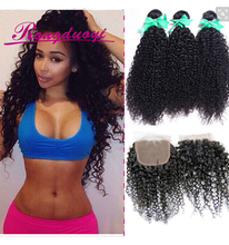 Qingdao hair factory selling Brazilian great lengths kinky curly hair extensions