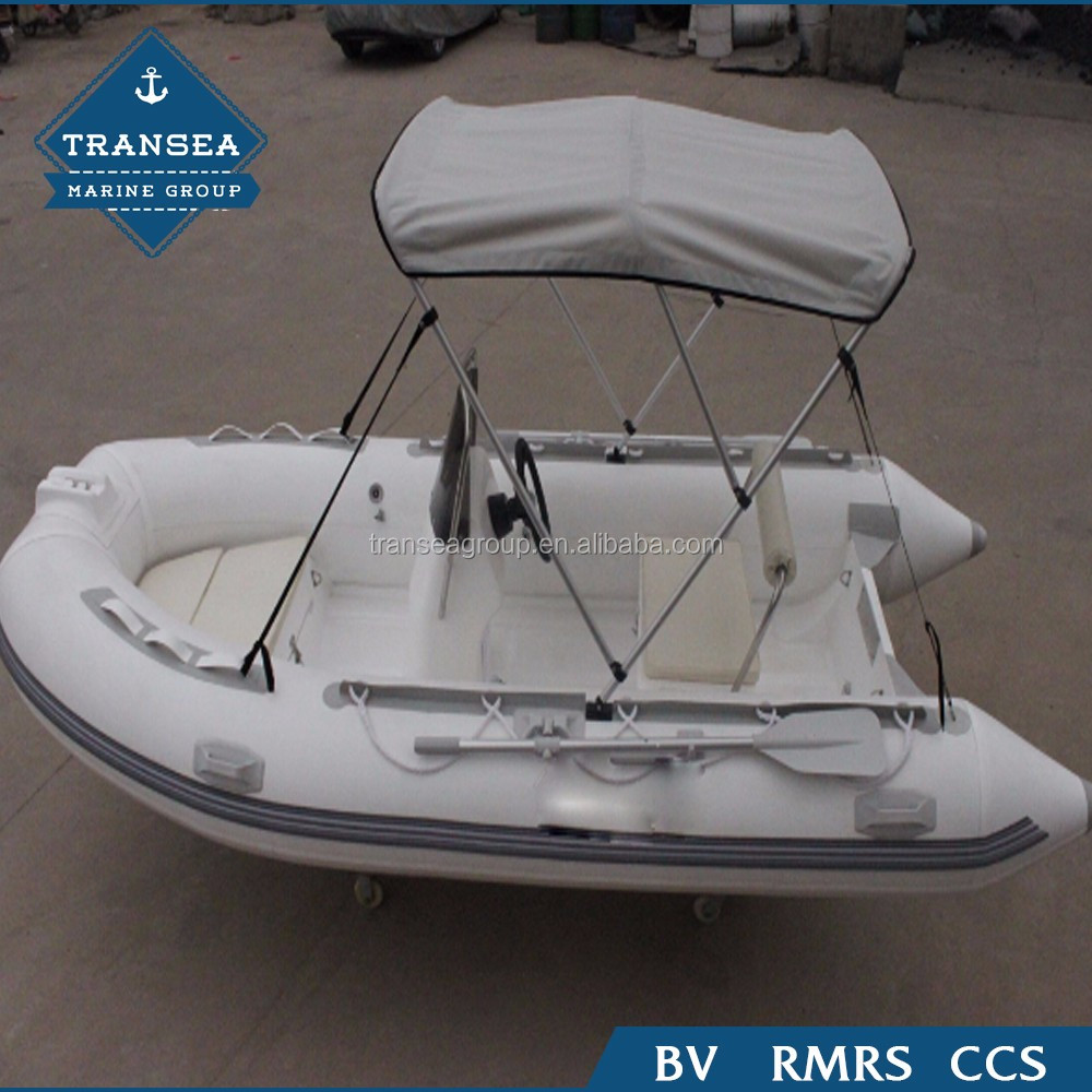 Chinese small fiberglass hull inflatable boat for sale