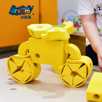 Eva foam China Wholesale Quality Assurance Colourful Hot sale kids building educational blocks indoor children motor car toy