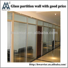 Glass partition wall for house