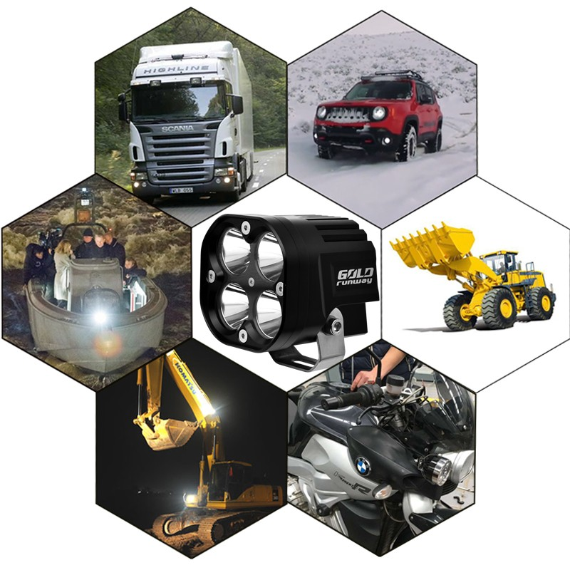 led work head light/lamp projector DRL daytime running led projector fog light/lamps motorcycle motorbike quad