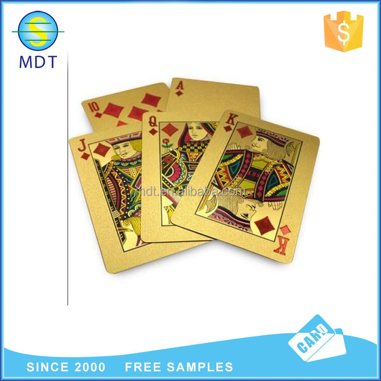 high level 24k metal gold plated playing cards wholesale