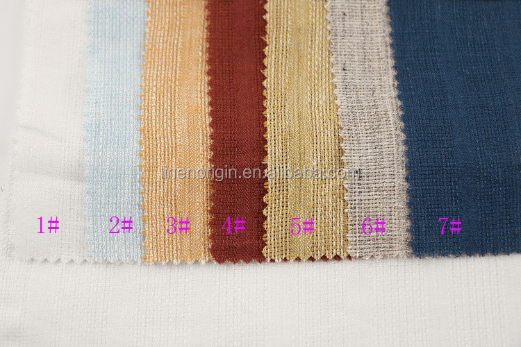 100% linen fashion fabric for dress