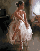GX8068 women ballerina wholesale painting by numbers for home decor