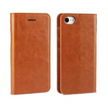New Product 2017 Wholesale Price Real Leather Cell Case Cover