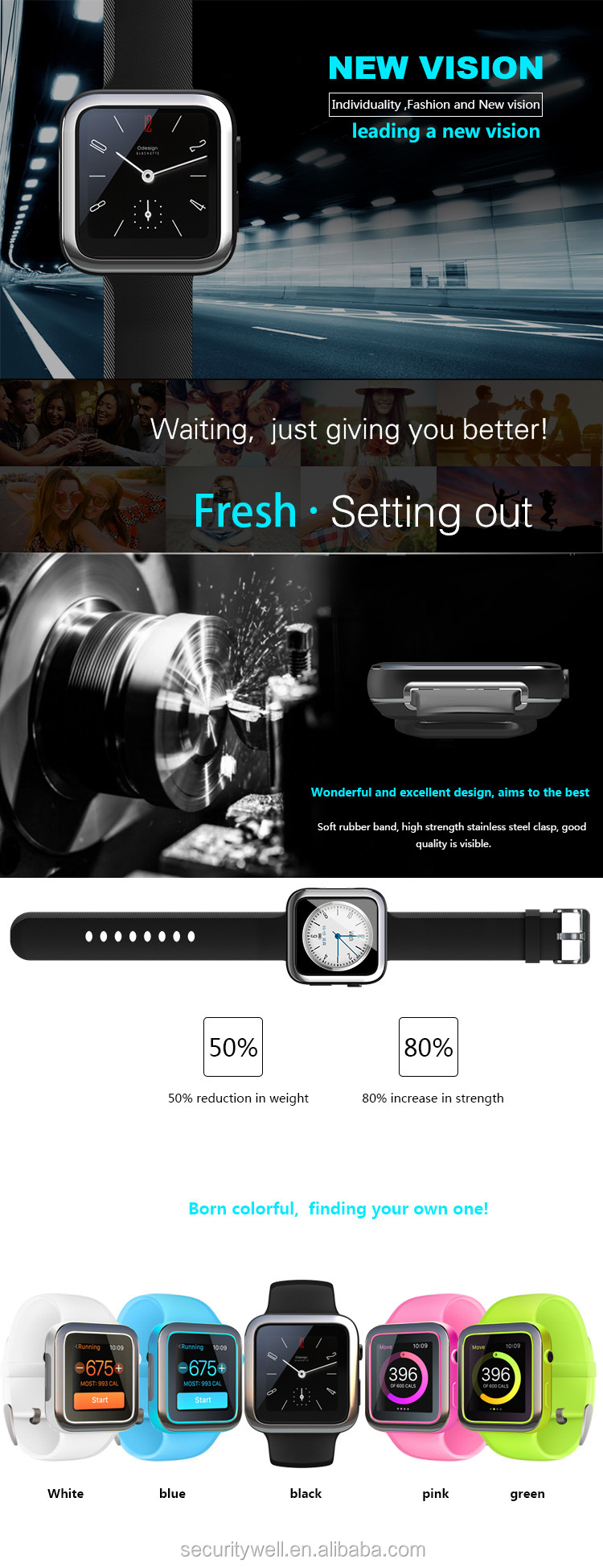 GSM Camera MTK2501 iOS Android Wholesale China Smart watches