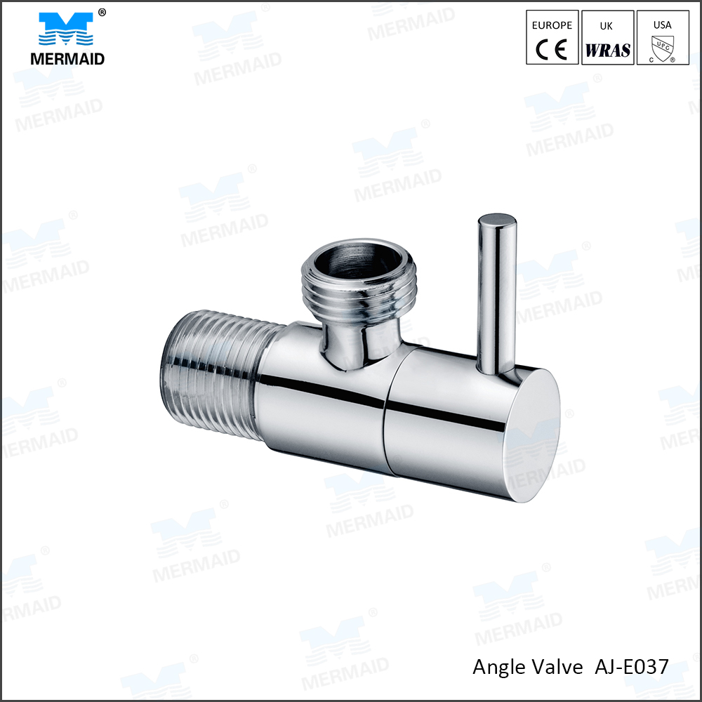 AOJIE High Quality Copper Bathroom Kitchen Basin Control Valve Toilet Triangle Regulating Angle Valve