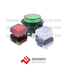 Taiwan RGB Illuminated Push Button Switch for Silent Medical Equip Panel Tactile / Non-Tact