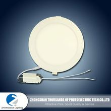 Long service life 3w to 24w AC 85-265V small led panel light