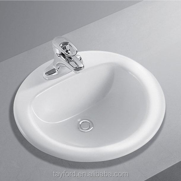 "19"" round drop in Lavatory"