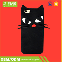FMS Newest Design Original Black Cat Soft Silicon Halloween Phone Cases