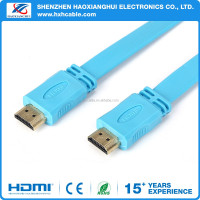 Supper speed Flat ROHS HDMI Cable for computer 1.4V 2.0V