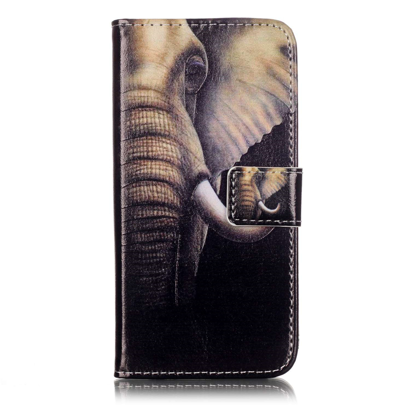 fashion Cartoon Patterns flip pu leather case For iPhone 7 with card slots wallet