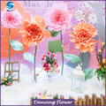 Custom hot new size large paper flowers with stem for party wedding decoration