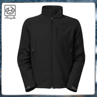 Black craft windbreaker running pullover softshell jacket for men