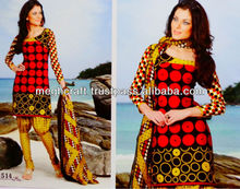 Bollywood Punjabi suit material - Printed cotton dress material - Wholesale salwar kameez - Bulk Dress materials-party wear tops