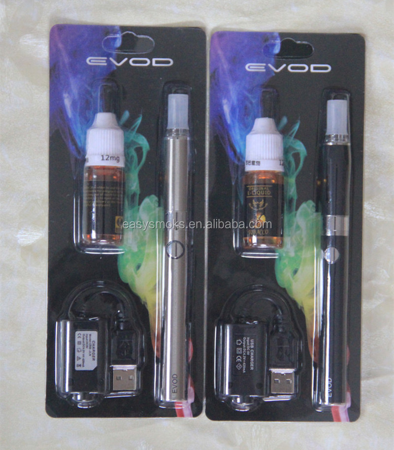 Wholesale very checp Electronic Cigarette Vaporizer Starter Kit EVOD battery '+ MT3 atomizer + liquid Evod kits from China