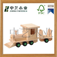 2015 china manucfacturers factory suppliers FSC&SA8000 DIY kids Little train wooden assembly educational toy for wholesale