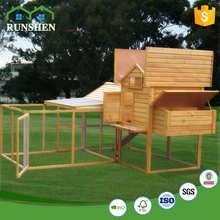 China Solid Wood Chicken Coops Pet House With Large Run