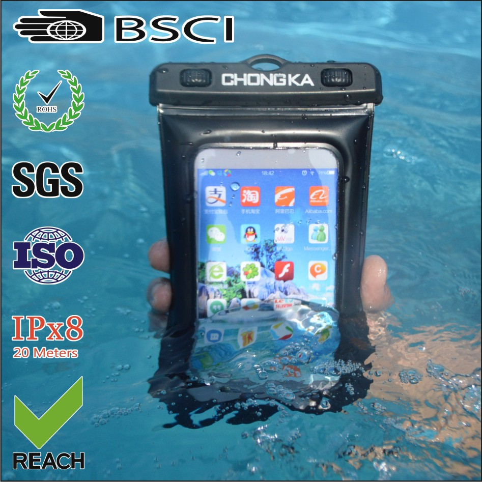 waterproof pouch for cellphone/phone waterproof pouch bag/smartphone waterproof pouch
