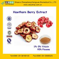 China GMP Certificated Supplier Free sample Herb Extract Hawthorn Vitexin