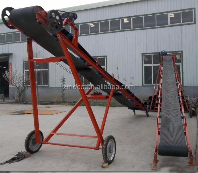 China hot sale mobile belt conveyor for sawdust/stone powder/graphite