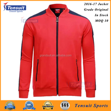 2016 men winter soccer traning jackets hot football team top thai quality sports jackets