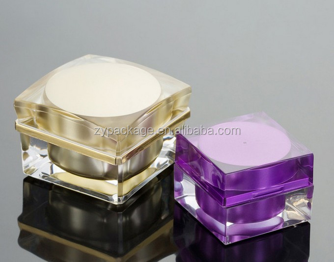 5 Gram 10gr 15g 30g Small Acrylic Plastic Square Containers Sample Cosmetic Jars for eye gels