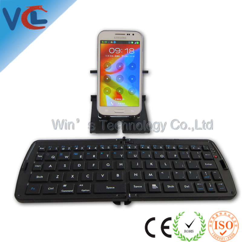 Bluetooth multimedia wireless mini folded keyboard for cell phone