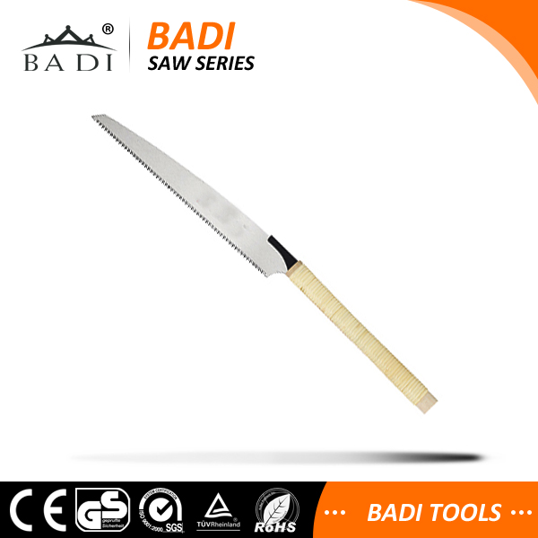 Steel material blade wood saw with rattan handle hand saw