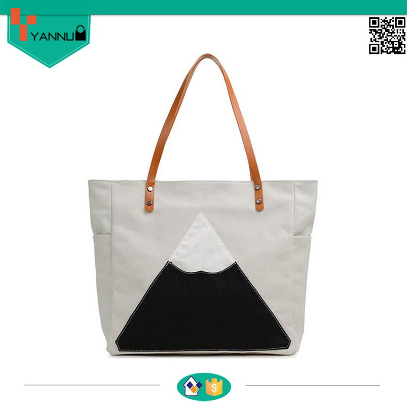 top quality cotton canvas tote bag for shopping durable and simple foldable bag for women