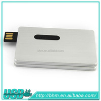 Promotional metal credit card usb flash drive /card pen drive