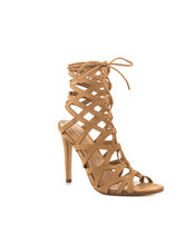 Gorgeous lattice caged straps and lace up vamp gladiator sandals