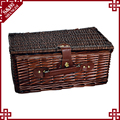 S&D graceful and washable rectangular Poly wicker picnic basket cheap wicker baskets
