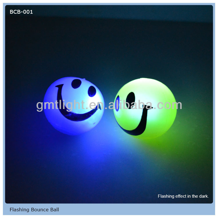 Party Favor Flashing Rubber Ball