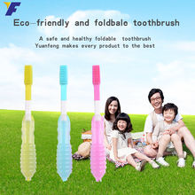 FDA food grade tooth brush heads soft silicone rubber toothbrush