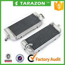 High performance brazd aluminum cooling parts motorcycle radiators for dirt bike