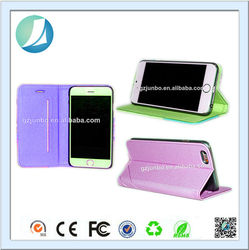 2014 New product fashion color dull polish cellphone leather case for iphone 5
