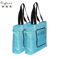 Hot Customizable Fashion Polyester Foldable Shopping Tote Bag Women Handbag Cheap Promotional travel bag