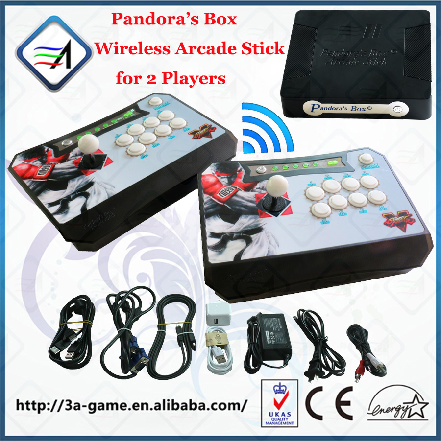 Pandora's Box Wireless Arcade Stick Built in Pandora Box 4S Jamma 680 in 1 PS3 XBOX360 PC Joystick Signals Arcade Controller