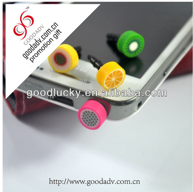 OEM design various shape personalized mobile phone pvc dust plugs