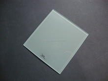 White glass panels with painted and logo on one side from factory